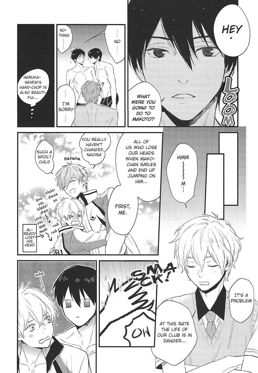 (GOOD COMIC CITY 20) [Onichikusyou (Oni)] Nee, Mako-chan Kocchi Muite. | Hey Mako-chan, Look At Me (Free!) [English] [For_Gem_Box] 4