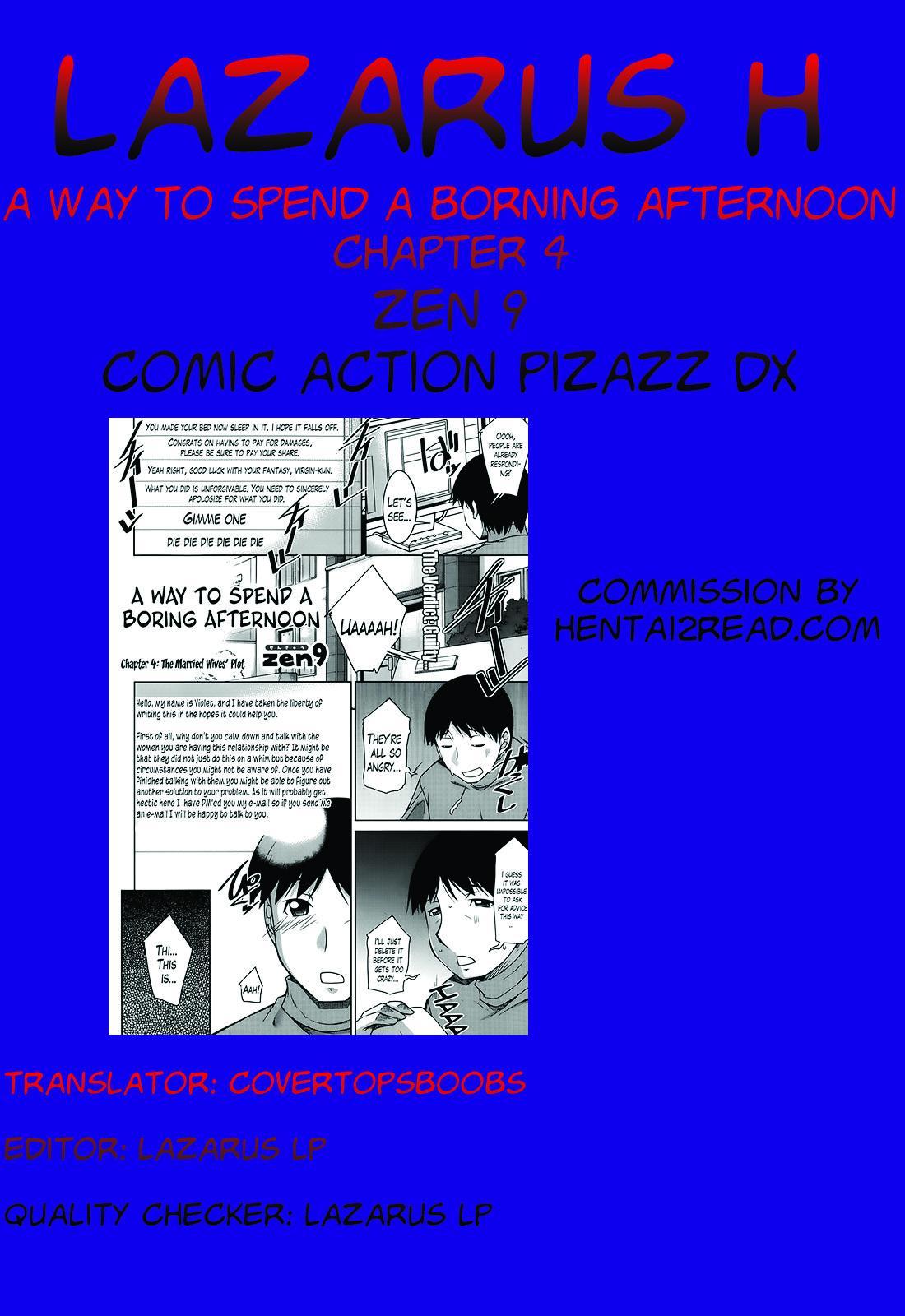 [Zen9] Taikutsu na Gogo no Sugoshikata Ch. 1-5   A Way to Spend a Boring Afternoon Ch. 1-5 (Action Pizazz DX 2013-12) [English](hentai2read.com)[Lazarus H] 76