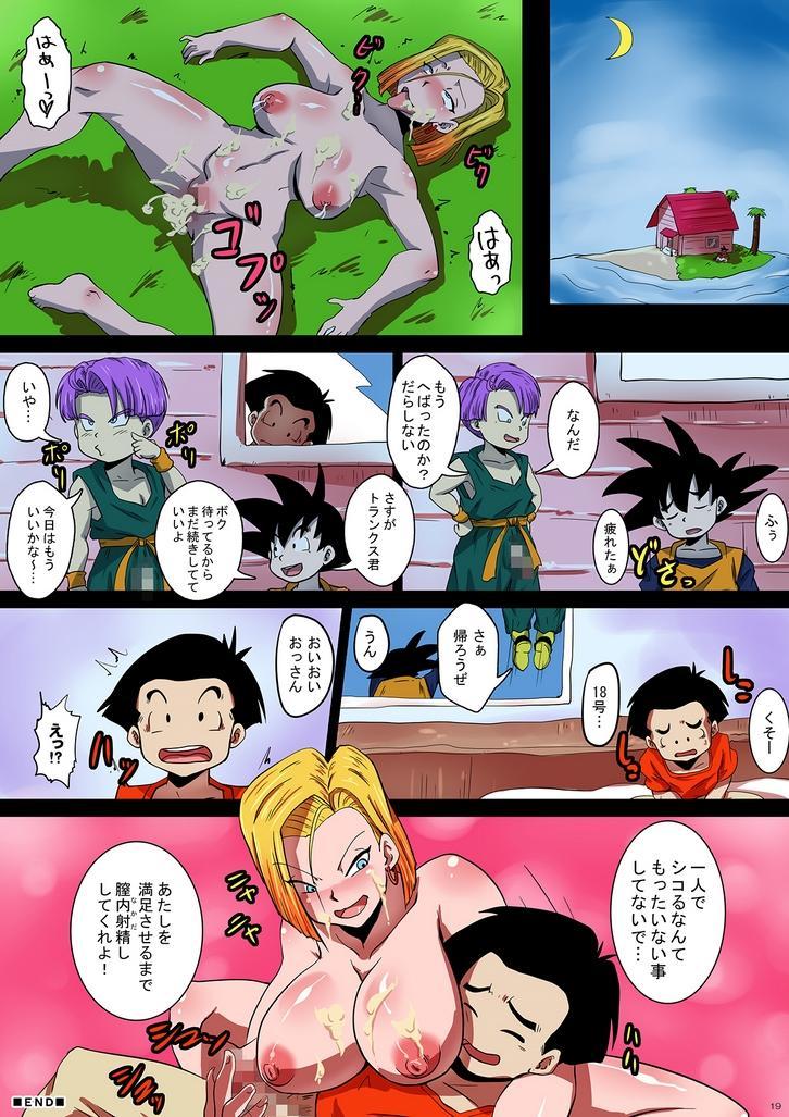 [Yuzuponz (Rikka Kai) SHOTACON HOLE Shinkon Hitozuma 18-gou no Tsukinai Seiyoku (Dragon Ball Z) 18