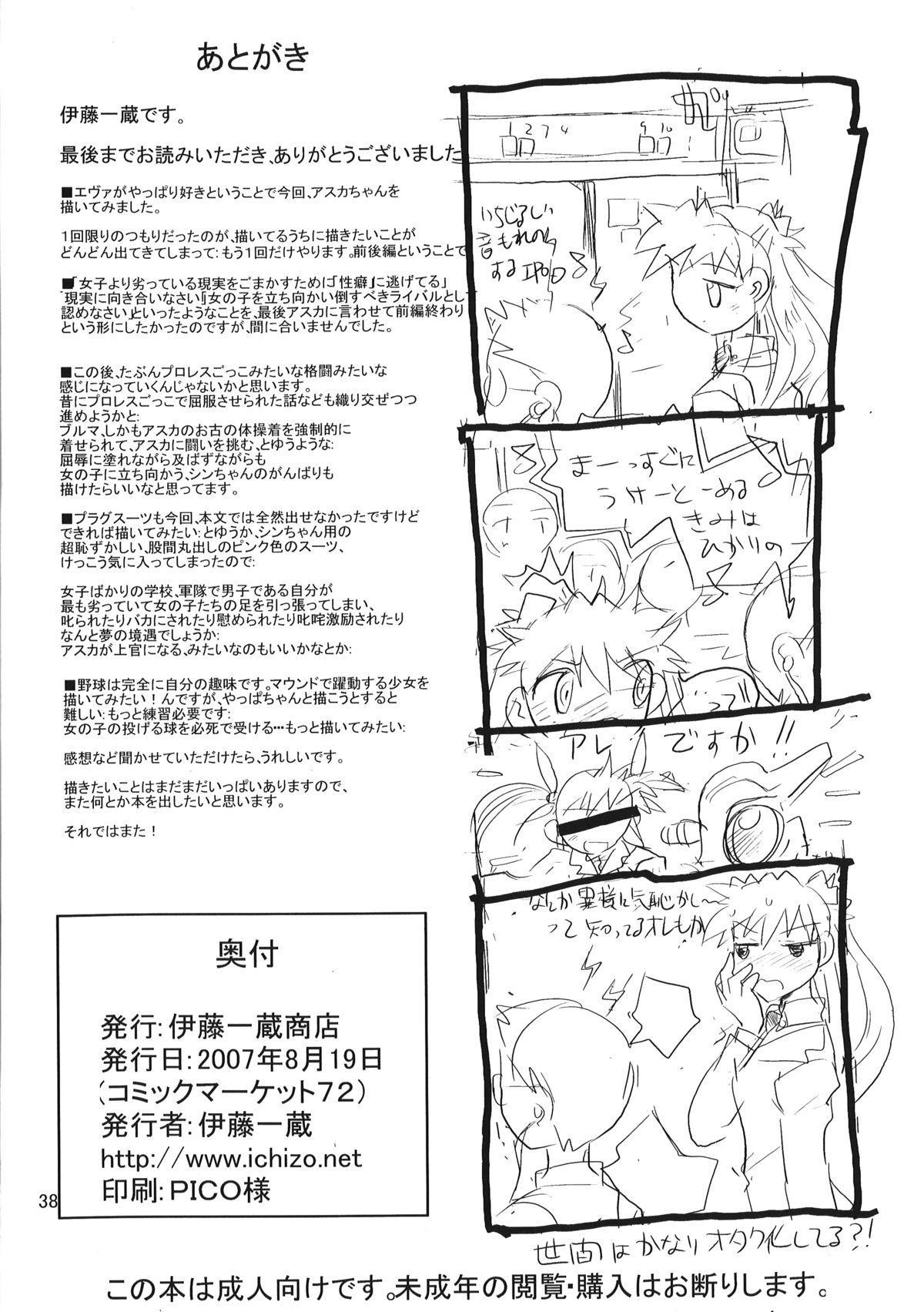 (C72) [Ito Ichizo Shouten (Ito Ichizo)] Otoko no Tatakai 10 -Onnanoko wa Natsu no Kemono-   Otoko no Tatakai 10 -The Girl, a Summer Beast- (Neon Genesis Evangelion) [English] [Maipantsu] 37