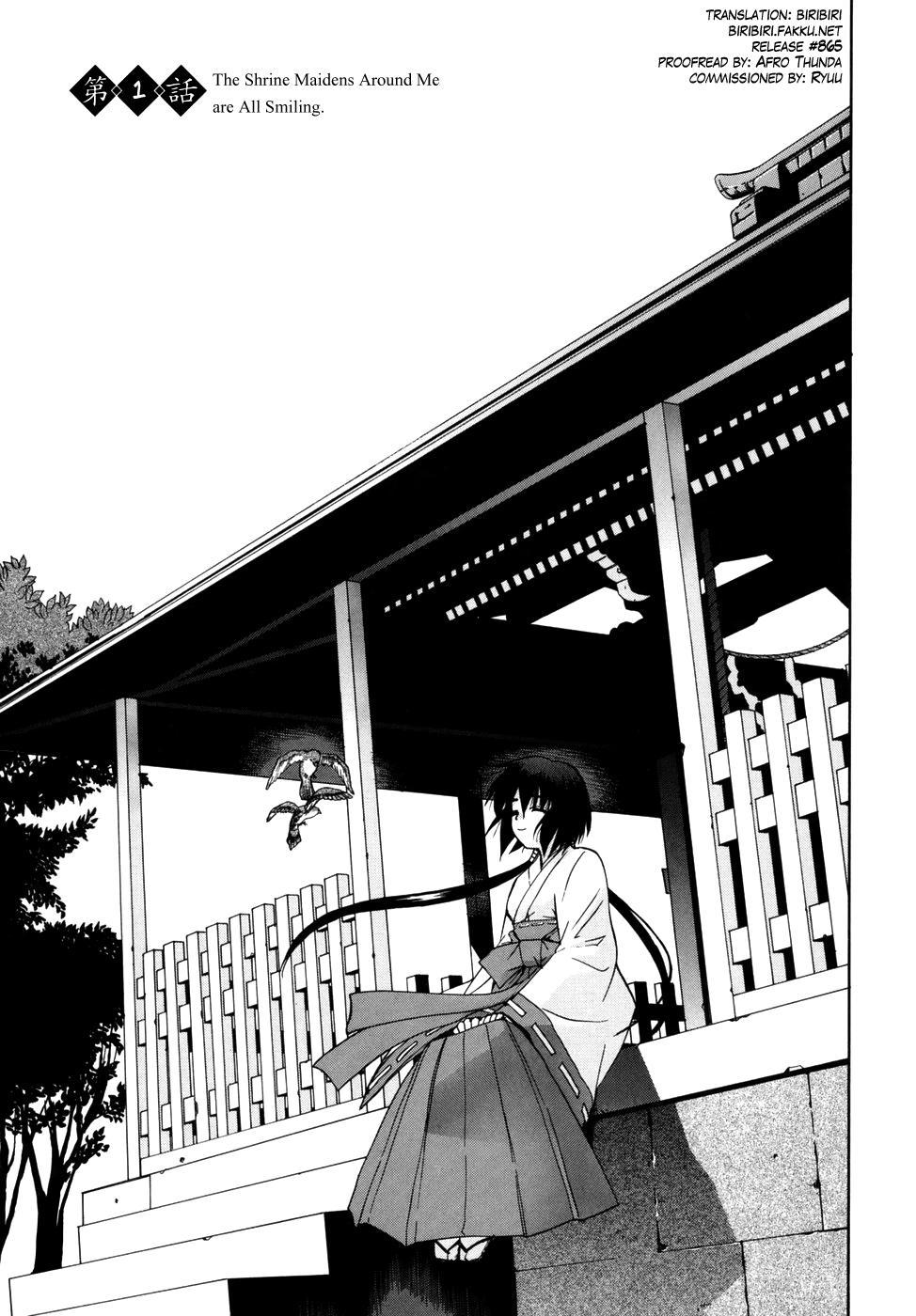 [Yaya Hinata] Tonari no Miko-san wa Minna Warau Ch.1-8 [English] [biribiri] 2