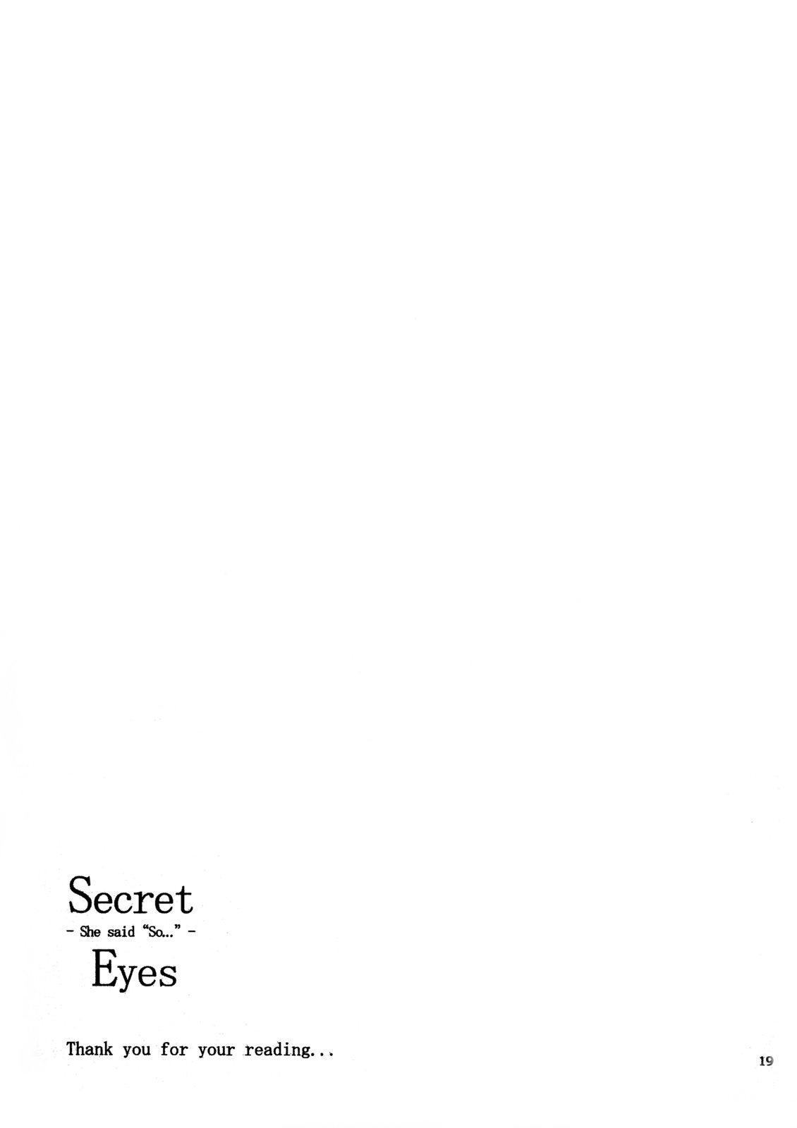 Secret Eyes - She said ''So...'' 17