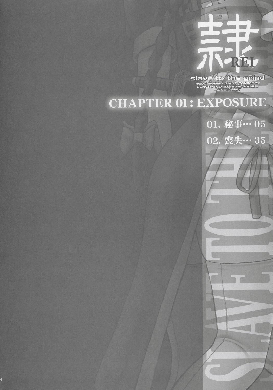(C68) [Hellabunna (Iruma Kamiri)] REI - slave to the grind - CHAPTER 01: EXPOSURE (Dead or Alive) 2