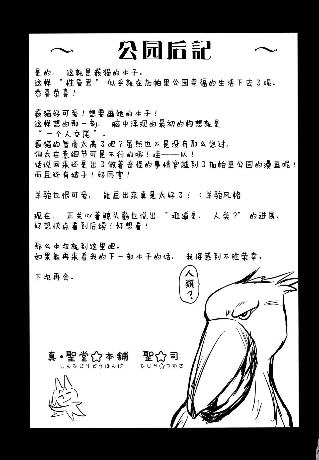 """(SC2017 Winter) [Shin Hirijidou Honpo (Hijiri Tsukasa)] Sugoi! Anata wa Hitori Koubi Gokko ga Tokui na Friends Nanda ne - Serval-chan ni, """"Hanshoku no Tame no Koubi"""" ja nai, Kimochiyoku Naru Tame no """"Namahame Sex"""" Oshieteageru Hanashi. [Chinese] [无毒汉化组] 19"""