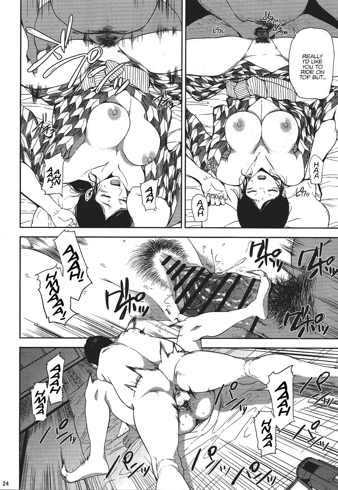(C88) [Gossipgothic (Shishiji)] Kurashiki-sensei wa Hatsujouki (Fujiyama-san wa Shishunki) | Kurashiki-sensei is in heat (a play on Shishunki) [English] 22