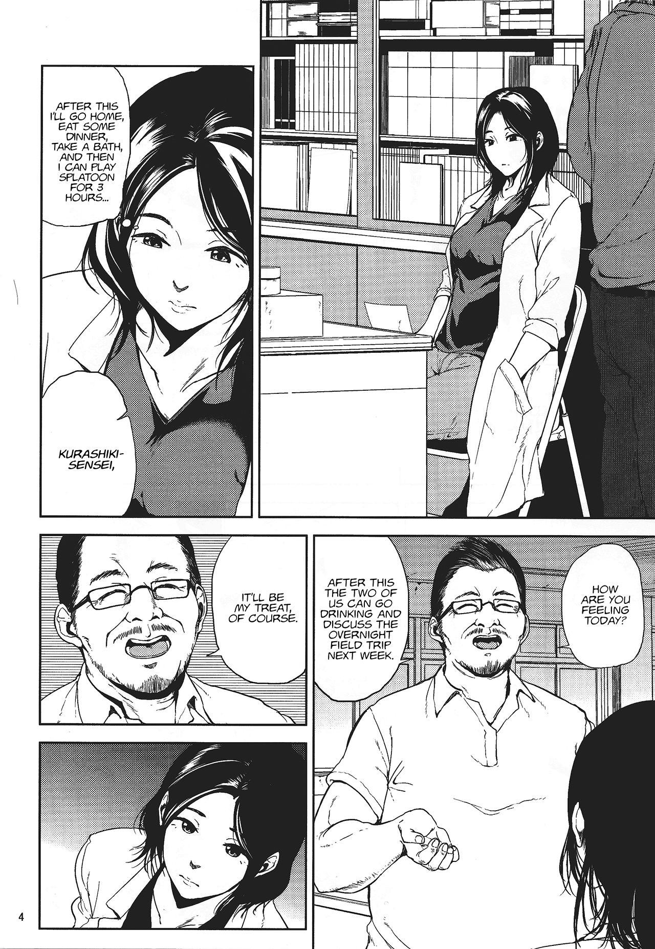 (C88) [Gossipgothic (Shishiji)] Kurashiki-sensei wa Hatsujouki (Fujiyama-san wa Shishunki) | Kurashiki-sensei is in heat (a play on Shishunki) [English] 2