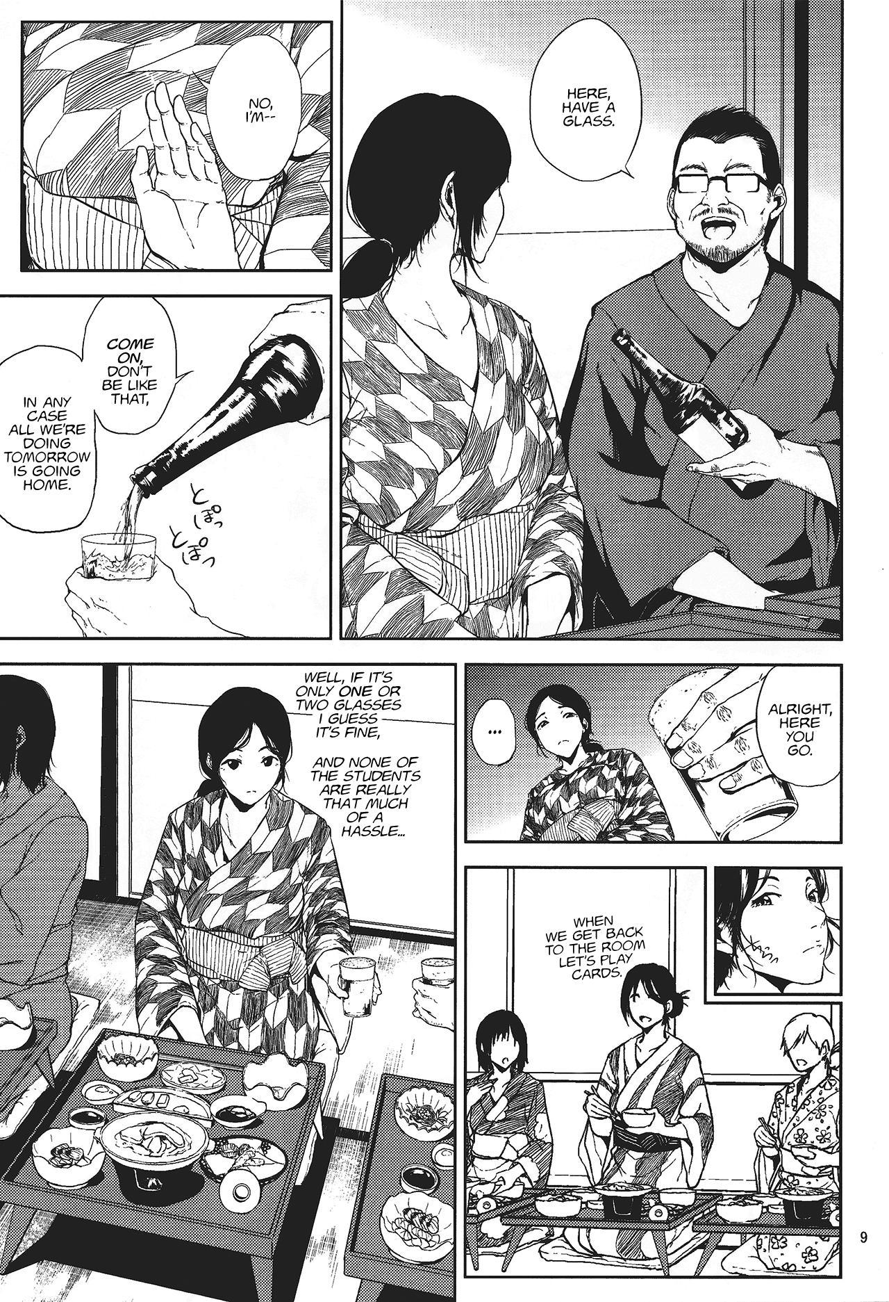 (C88) [Gossipgothic (Shishiji)] Kurashiki-sensei wa Hatsujouki (Fujiyama-san wa Shishunki) | Kurashiki-sensei is in heat (a play on Shishunki) [English] 7