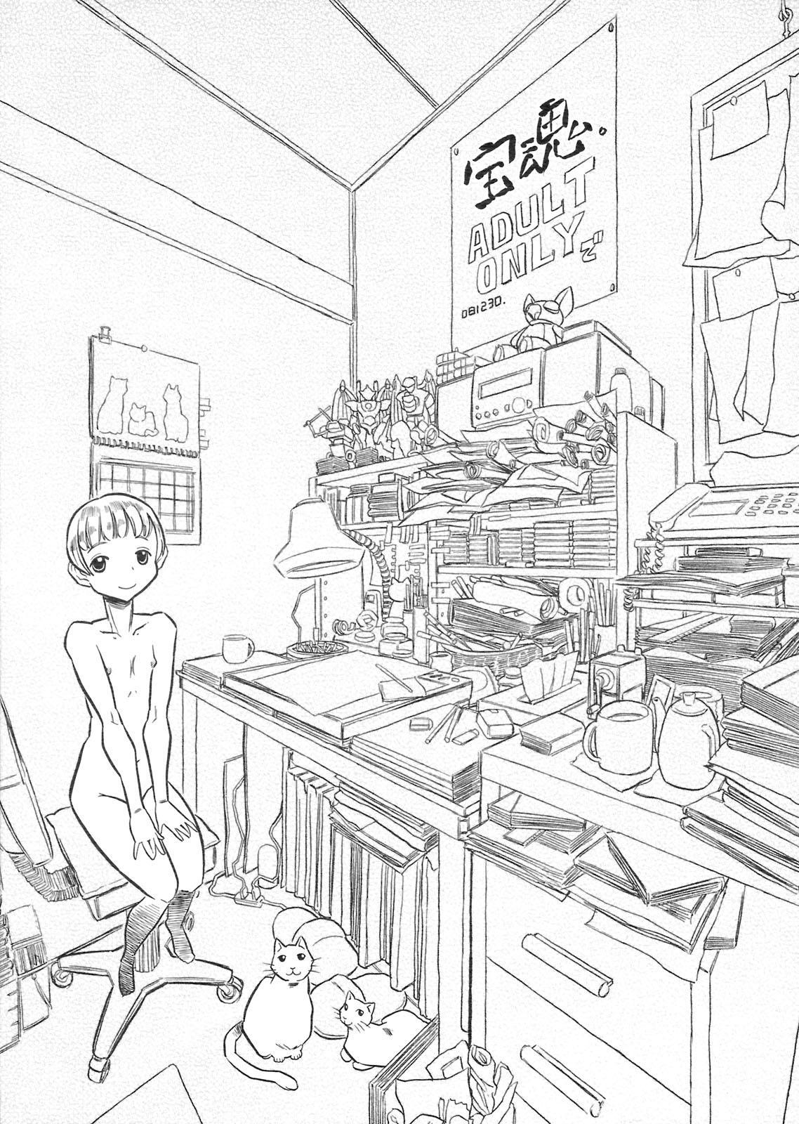mayaonaka ni tengoku kara ero manga ke shibou no jannu-daruku ga yatteki te chiku 35 13