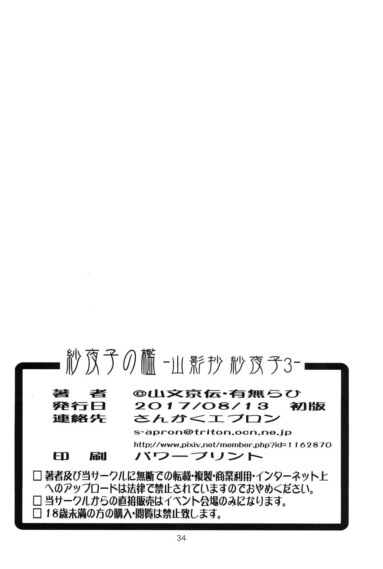 (C92) [Sankaku Apron (Sanbun Kyoden, Umu Rahi)] Sayoko's Cage -Sayoko Saneisho 3- | Sayoko no Ori -Saneishou Sayoko3- [English] [Zero Translations] 33