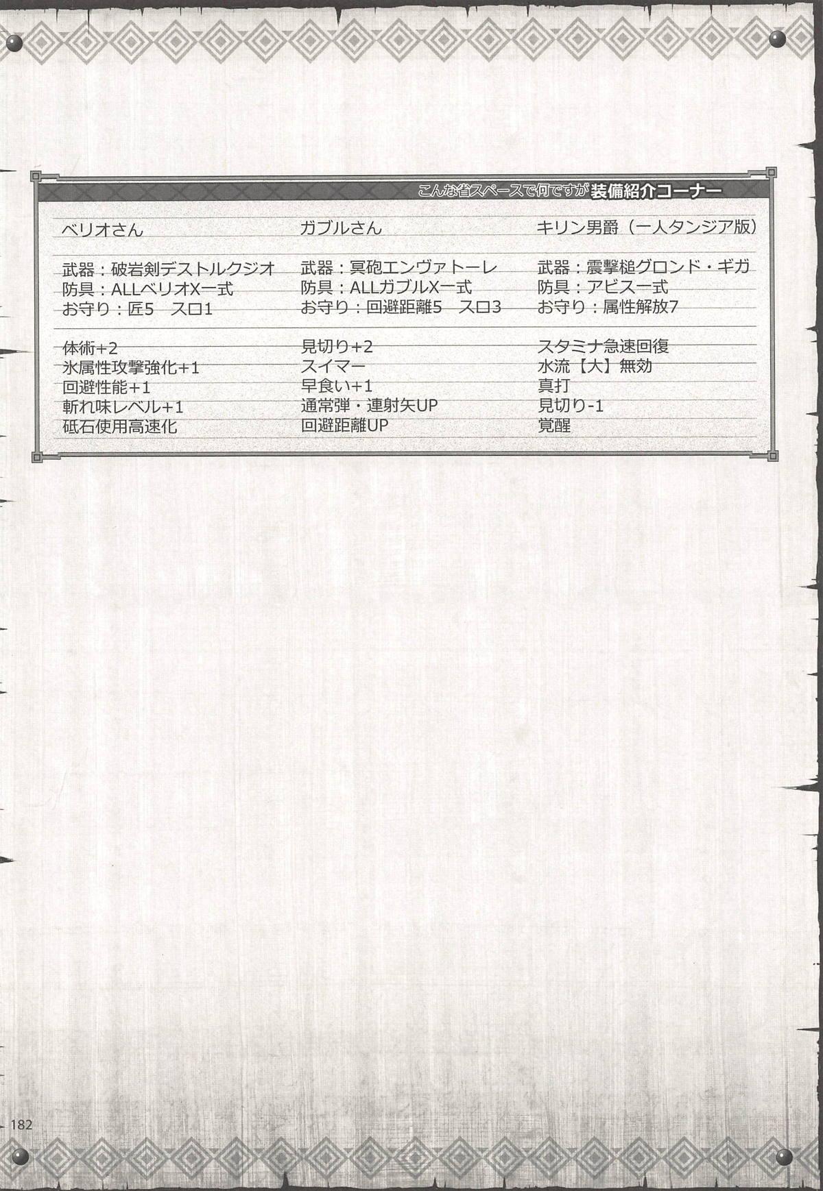 Monhan no Erohon G3 11→14+Juuhi+Omakebon Soushuuhen 179