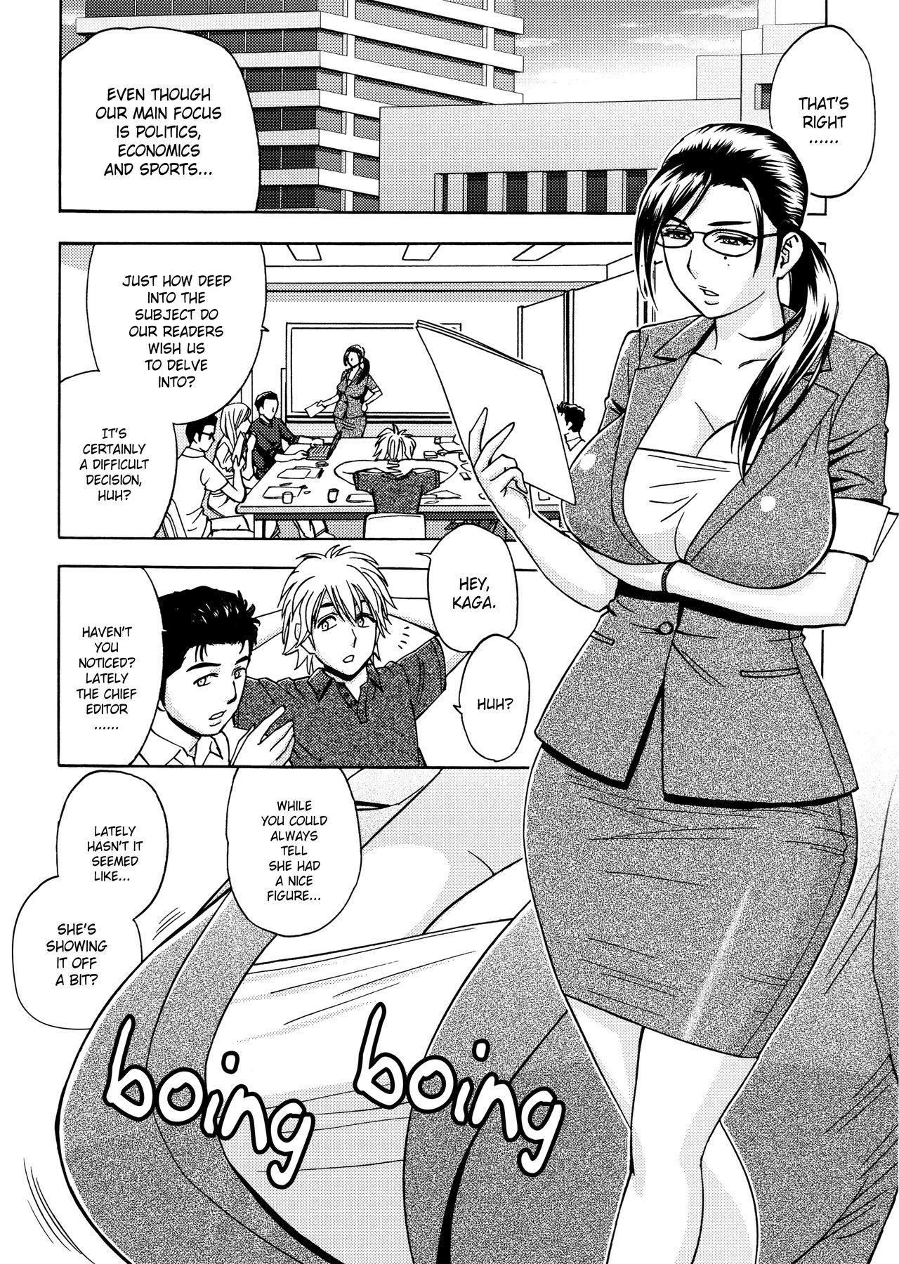[Tatsunami Youtoku, Yamazaki Masato] Bijin Henshuu-chou no Himitsu | Beautiful Editor-in-Chief's Secret Ch. 1-5 [English] [Forbiddenfetish77, Red Vodka, Crystalium] [Decensored] 25