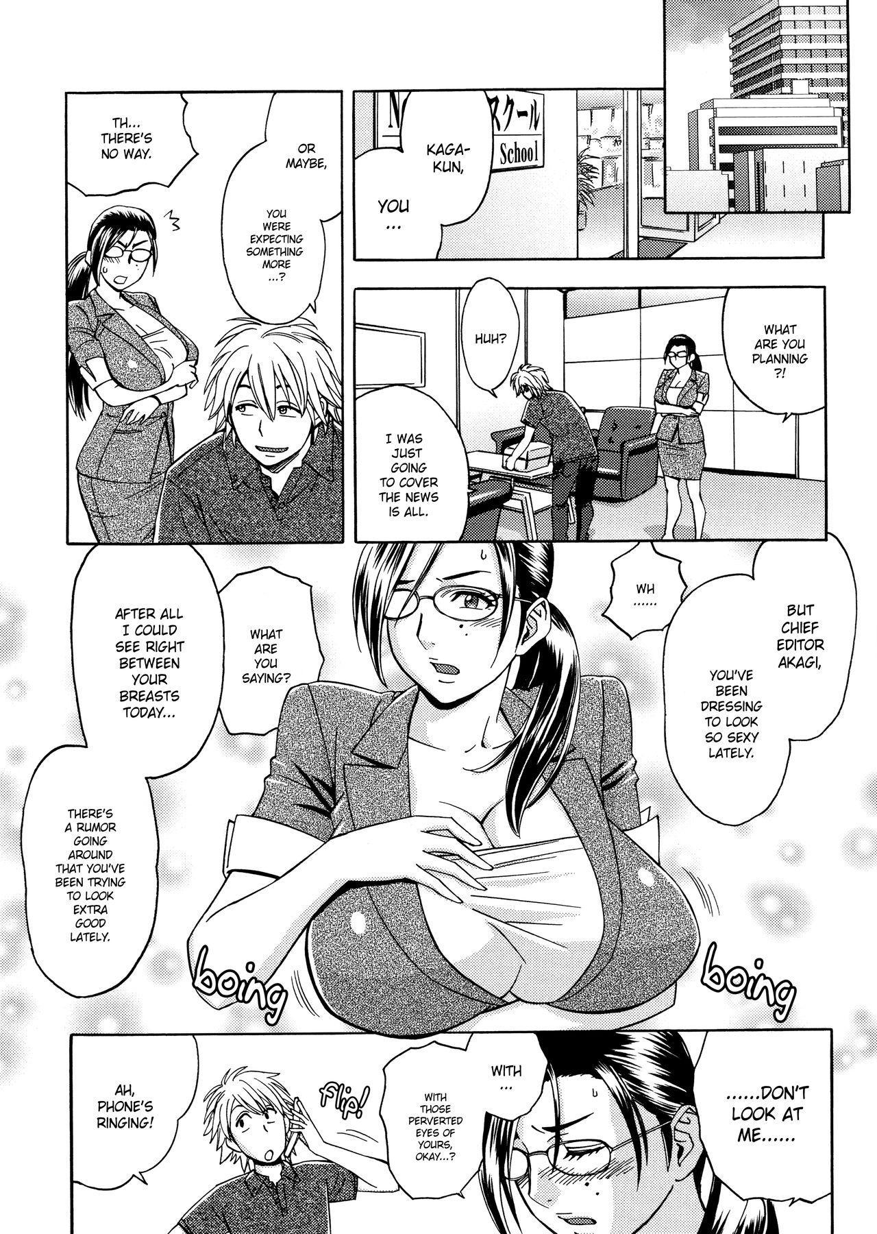 [Tatsunami Youtoku, Yamazaki Masato] Bijin Henshuu-chou no Himitsu | Beautiful Editor-in-Chief's Secret Ch. 1-5 [English] [Forbiddenfetish77, Red Vodka, Crystalium] [Decensored] 28