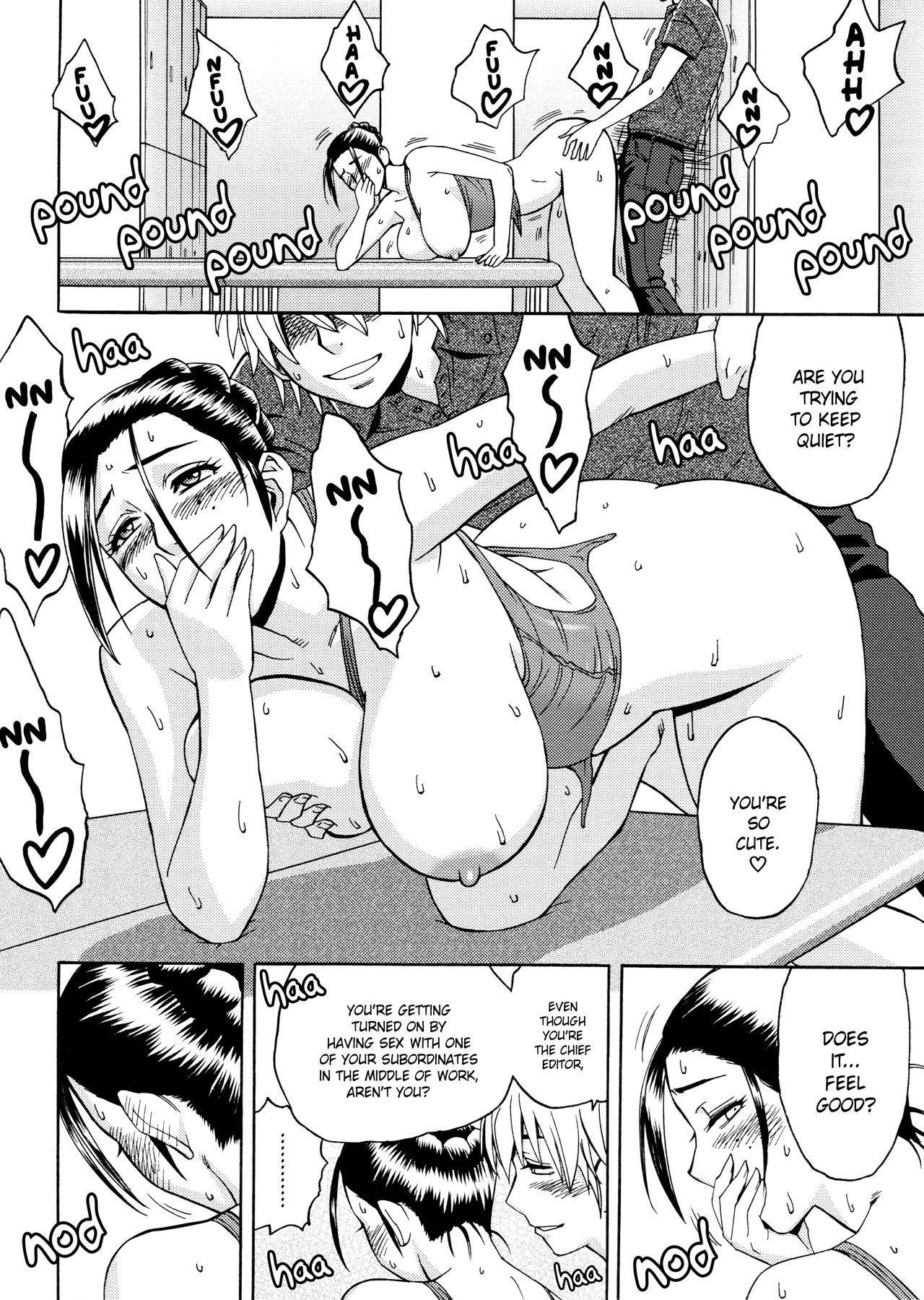 [Tatsunami Youtoku, Yamazaki Masato] Bijin Henshuu-chou no Himitsu | Beautiful Editor-in-Chief's Secret Ch. 1-5 [English] [Forbiddenfetish77, Red Vodka, Crystalium] [Decensored] 39