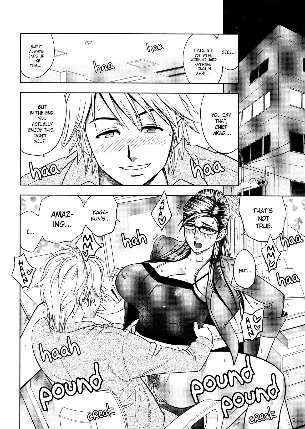 [Tatsunami Youtoku, Yamazaki Masato] Bijin Henshuu-chou no Himitsu | Beautiful Editor-in-Chief's Secret Ch. 1-5 [English] [Forbiddenfetish77, Red Vodka, Crystalium] [Decensored] 65