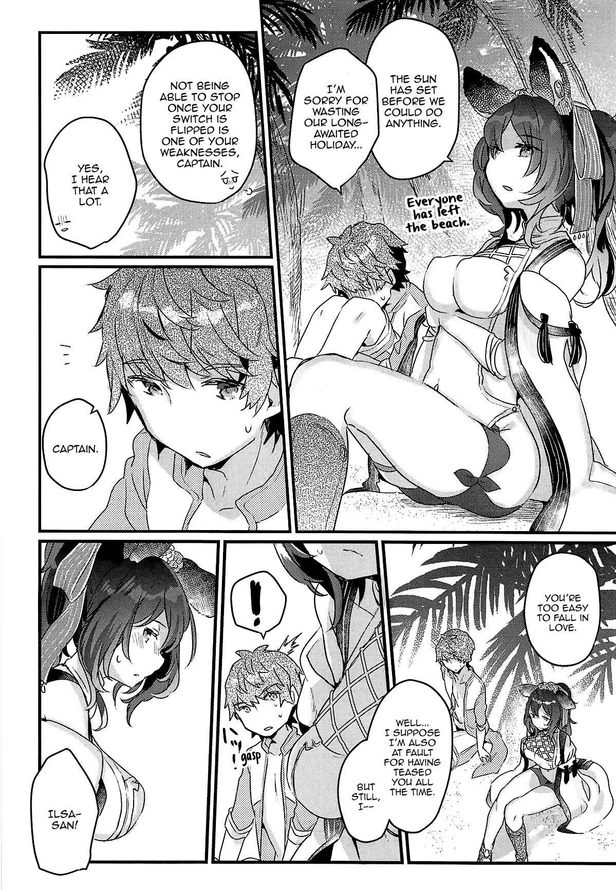 (COMIC1☆15) [Tenkirin (Kanroame)] Ilsa-san to Guste de Vacances | A Vacation to Auguste Isles With Ilsa-san (Granblue Fantasy) [English] [Aoitenshi] 19