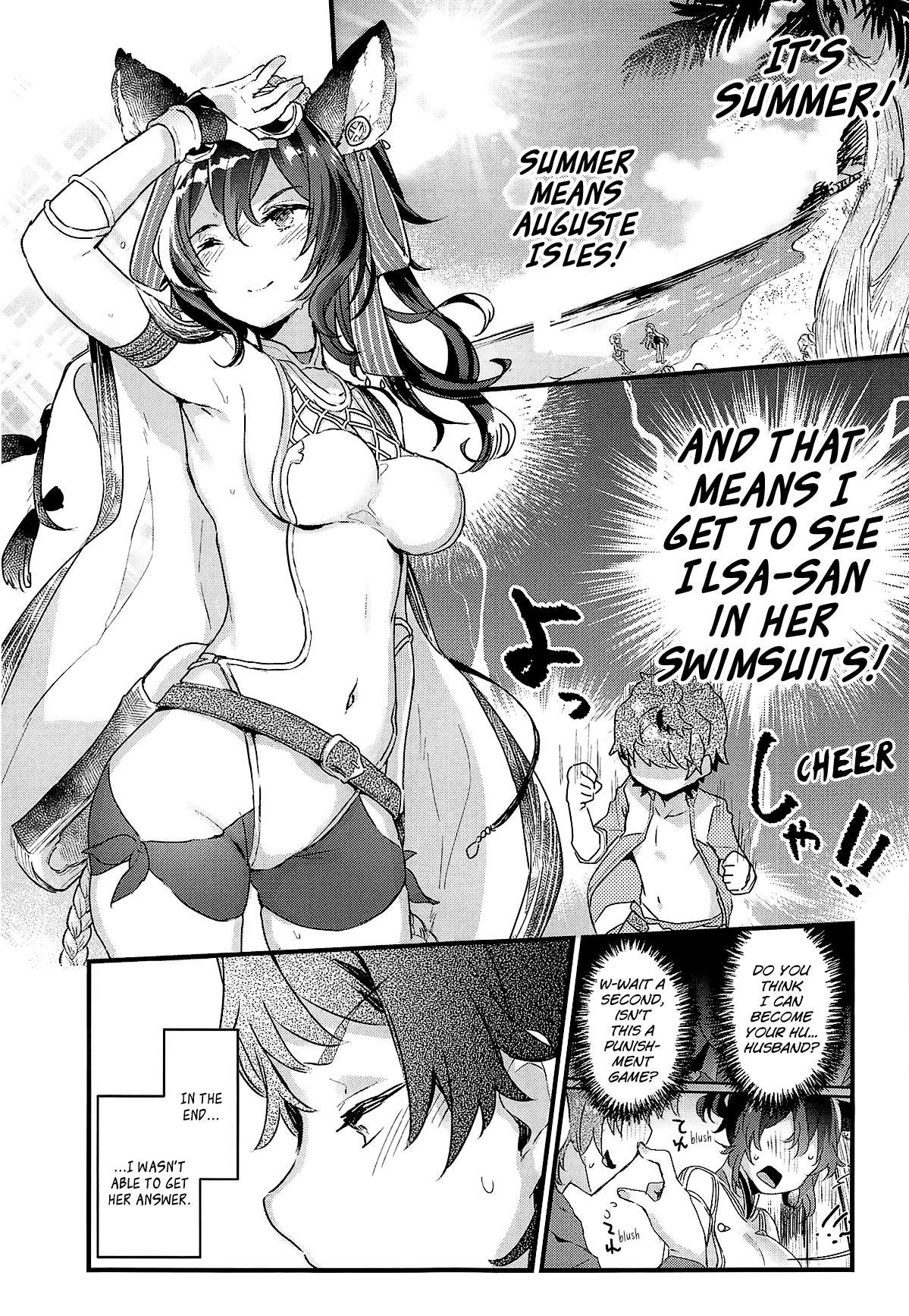 (COMIC1☆15) [Tenkirin (Kanroame)] Ilsa-san to Guste de Vacances | A Vacation to Auguste Isles With Ilsa-san (Granblue Fantasy) [English] [Aoitenshi] 4