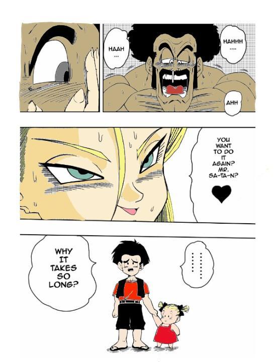 18-gou to Mister Satan!! Seiteki Sentou! | Android N18 and Mr. Satan!! Sexual Intercourse Between Fighters! 15
