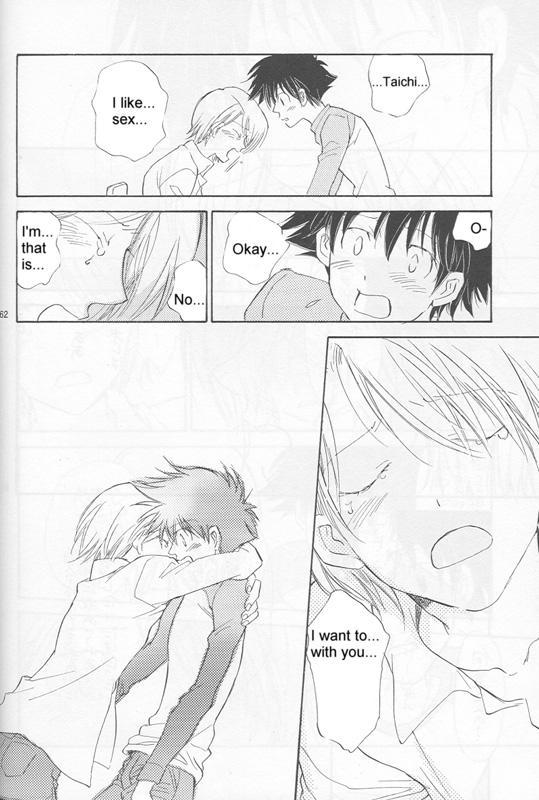 [Gekkou Touzoku (Nobi Nobita)] Bedroom kara Ai o Komete (Digimon Adventure 02) [English} 59