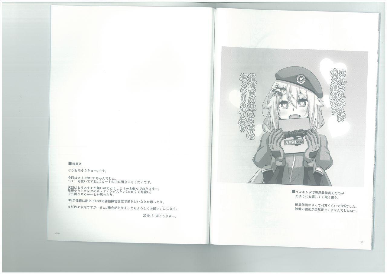 (C96) [Dokomademo Aoi Sora ni Ukabu Niku. (Nikusoukyuu.)] 9a-91-chan wa Gohoshi Shitai. (Girls' Frontline) 13