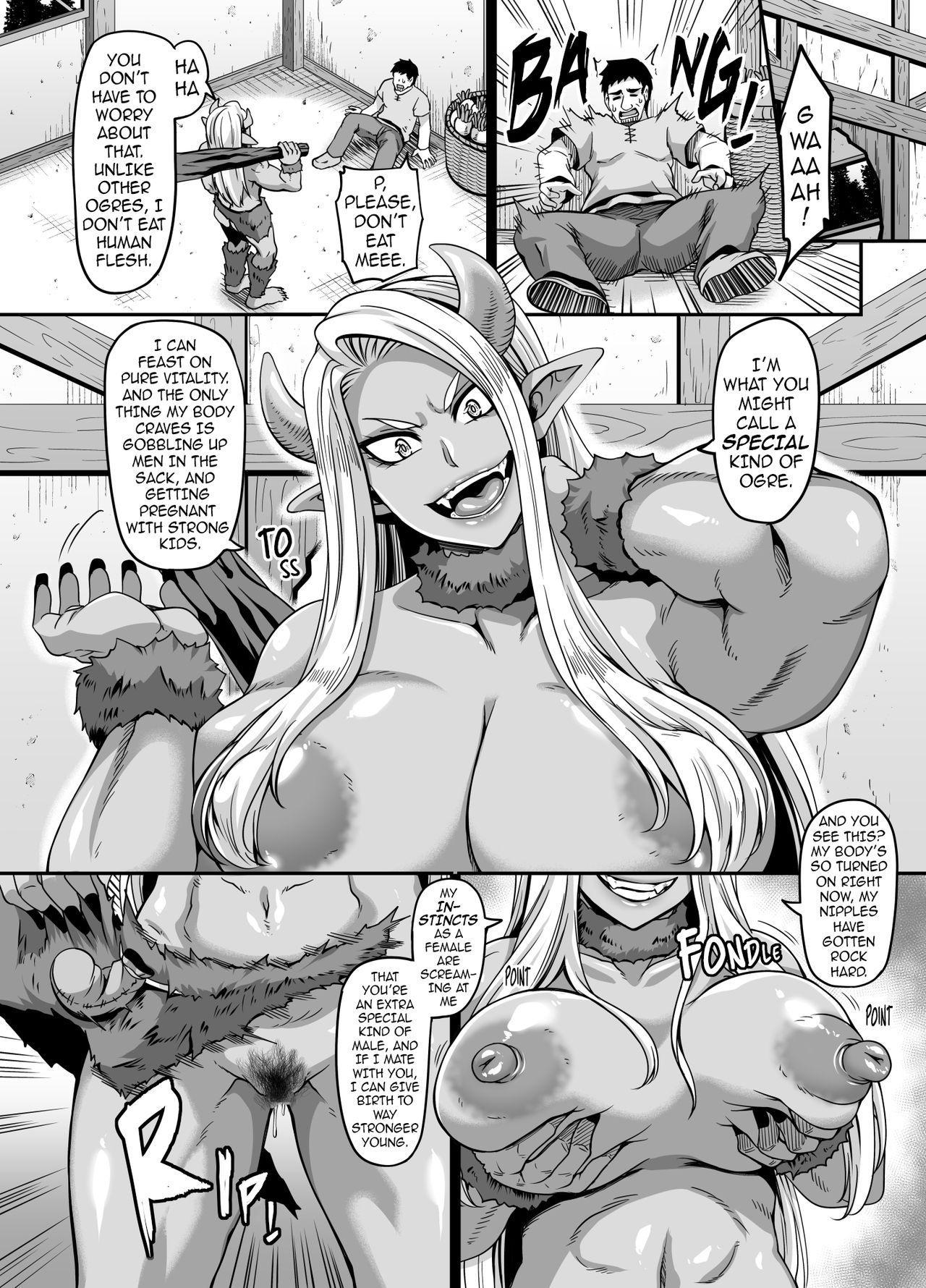 Mesu Ogre wa Kentauros Chinpo o Musabori Okasu | Female Ogre is Gonna Fuck Centaur Horse Cock Till She Drops 4