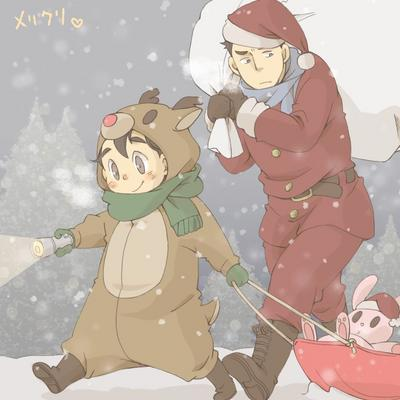 posick001 - 【腐】クリスマスまんが【創作】 0