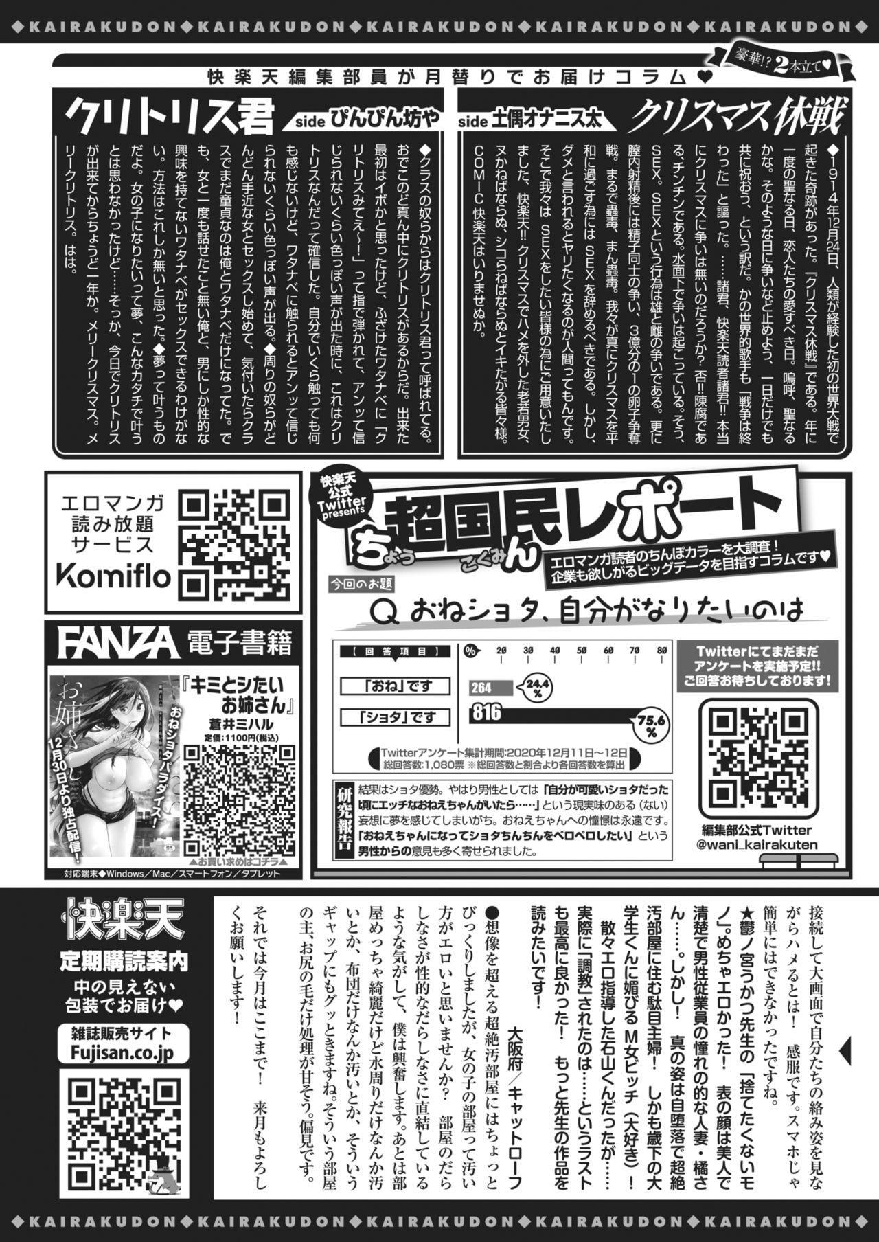 COMIC Kairakuten 2021-02 406