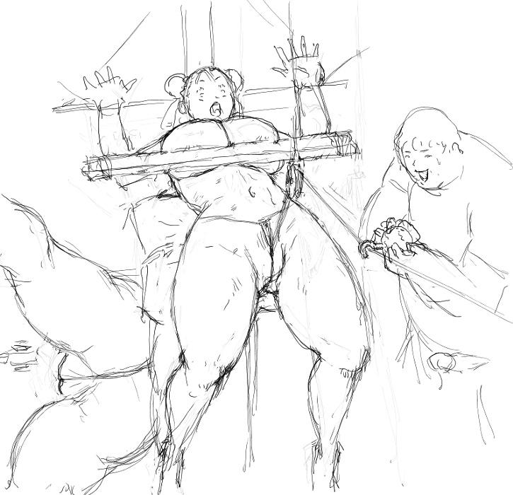 [8 no Ji Club]   Anguish Battle (Street Fighter / King of fighters ) + site sketches 30