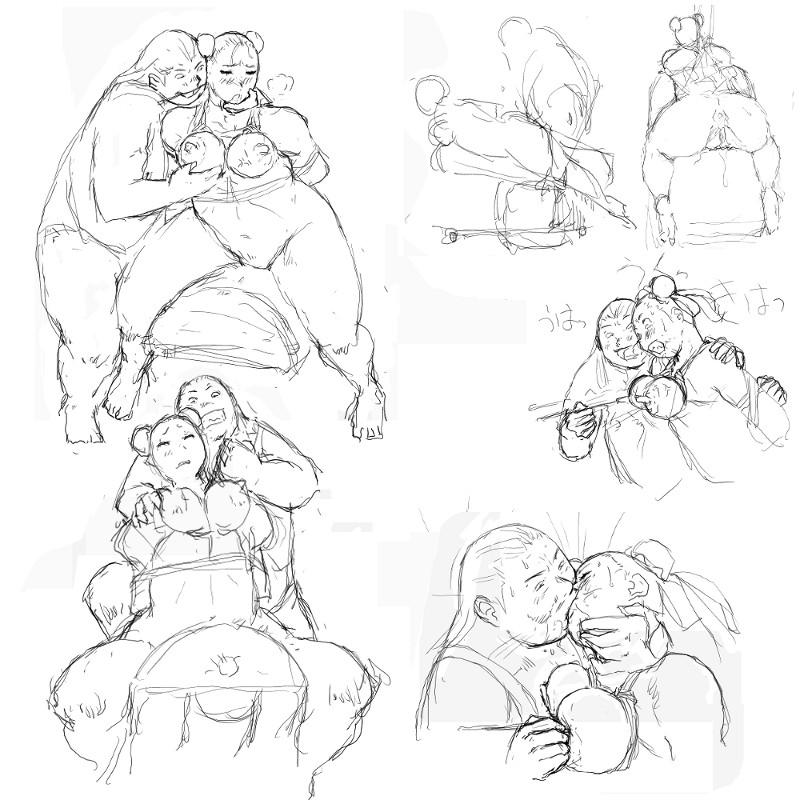 [8 no Ji Club]   Anguish Battle (Street Fighter / King of fighters ) + site sketches 72